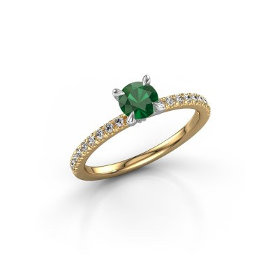 Picture of Engagement ring Crystal rnd 2 585 gold emerald 5 mm
