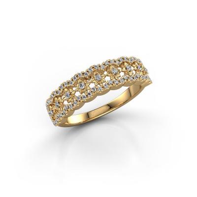Photo de Bague Alda 585 or jaune diamant 0.323 crt
