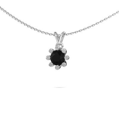 Foto van Hanger Carola 2 950 platina zwarte diamant 0.96 crt