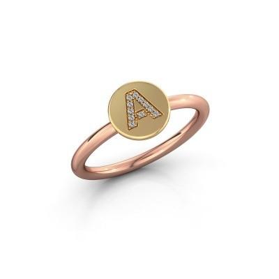 Bague Initial ring 050 585 or rose