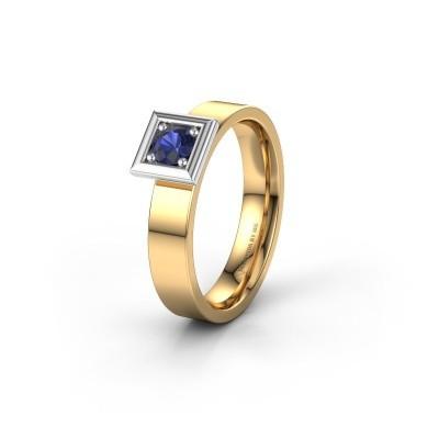 Trouwring WH2112L14A 585 goud saffier ±4x1.7 mm