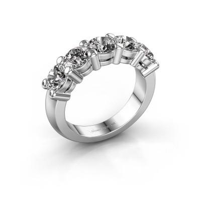 Foto van Promise ring Michelle 5 950 platina diamant 2.50 crt