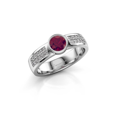 Engagement ring Ise 3 925 silver rhodolite 4.7 mm