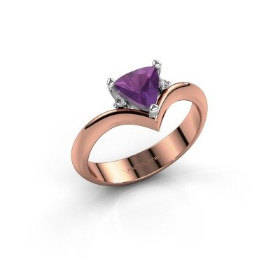 Picture of Ring Arlette 585 rose gold amethyst 7 mm
