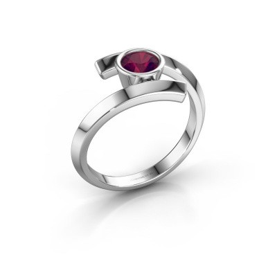 Ring Mara 925 zilver rhodoliet 5 mm
