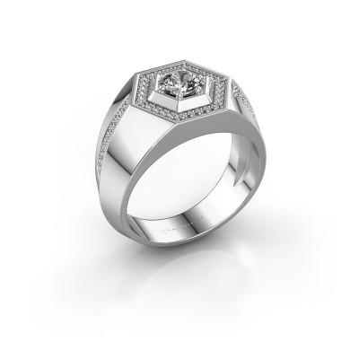 Men's ring Sjoerd 950 platinum zirconia 4.7 mm