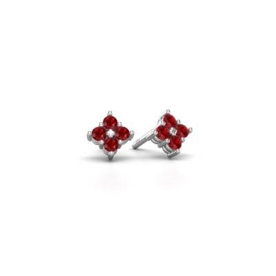 Picture of Stud earrings Maryetta 925 silver ruby 2 mm