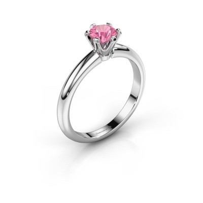 Picture of Engagement ring Tiffy 1 950 platinum pink sapphire 5 mm