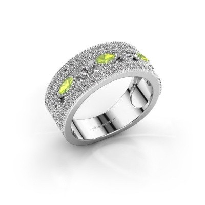 Ring Henna 950 platina peridoot 4x2 mm