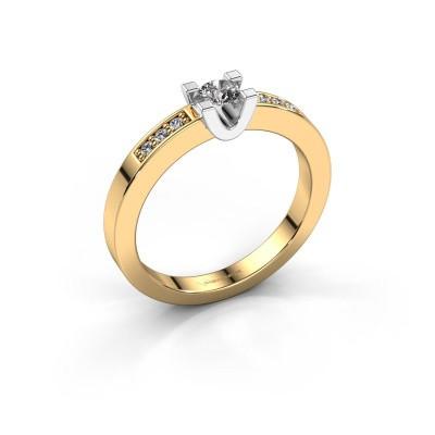 Foto van Verlovingsring Sara 2 585 goud diamant 0.20 crt