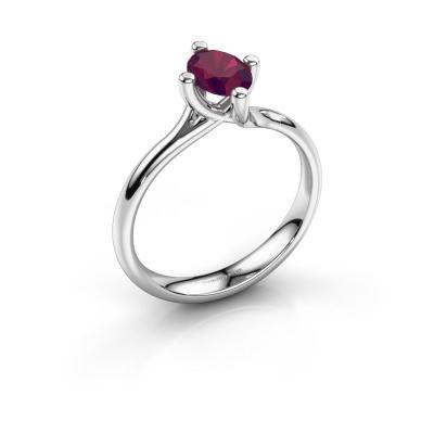 Engagement ring Dewi Oval 950 platinum rhodolite 7x5 mm