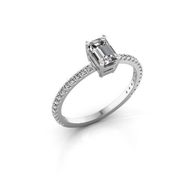 Verlovingsring Denita 2 925 zilver diamant 0.70 crt