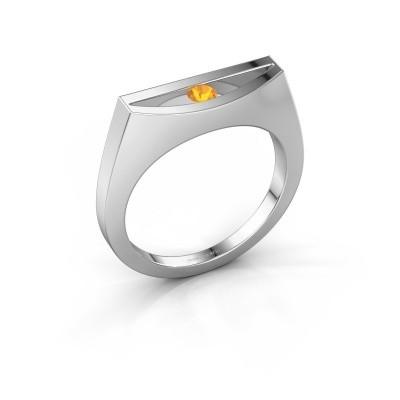 Ring Milou 950 Platin Citrin 3 mm