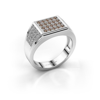 Picture of Men's ring Tim 585 white gold brown diamond 0.654 crt