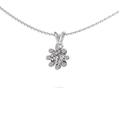 Foto van Hanger Carola 3 375 witgoud lab-grown diamant 0.80 crt
