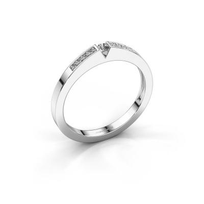 Engagement ring Lizzy 2 585 white gold diamond 0.03 crt