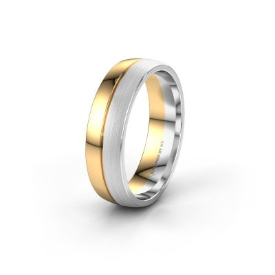 Wedding ring WH0200M25APM 585 gold ±0.24x0.07 in