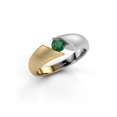 Foto van Ring Hojalien 1 585 goud smaragd 4.2 mm