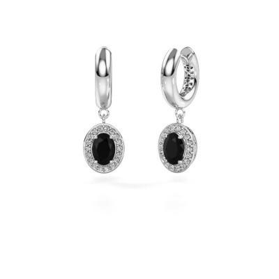 Oorhangers Annett 375 witgoud zwarte diamant 2.19 crt