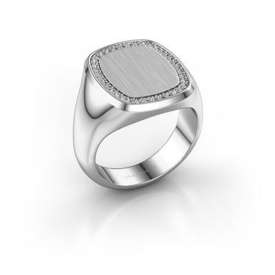 Heren ring Floris Cushion 4 375 witgoud lab-grown diamant 0.278 crt