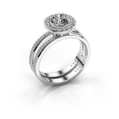Foto van Promise ring Shila 585 witgoud diamant 1.092 crt