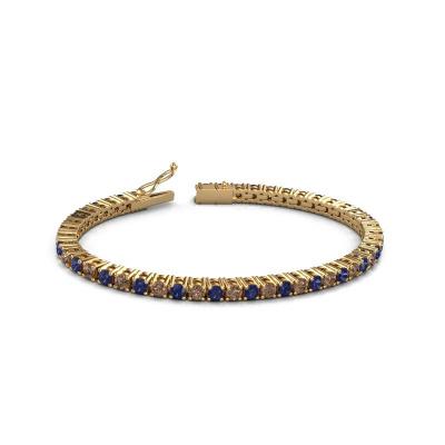 Picture of Tennis bracelet Karin 3.5 mm 375 gold brown diamond 4.32 crt