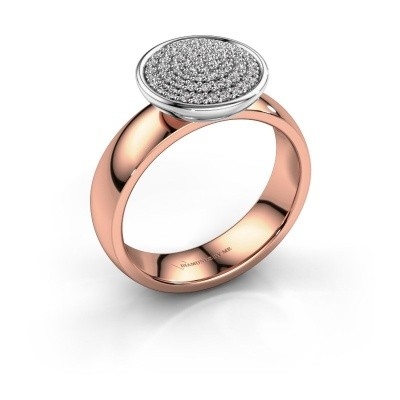 Picture of Ring Tilda 585 rose gold diamond 0.305 crt