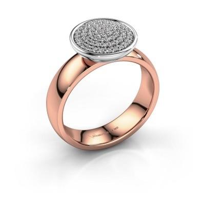 Foto van Ring Tilda 585 rosé goud diamant 0.305 crt