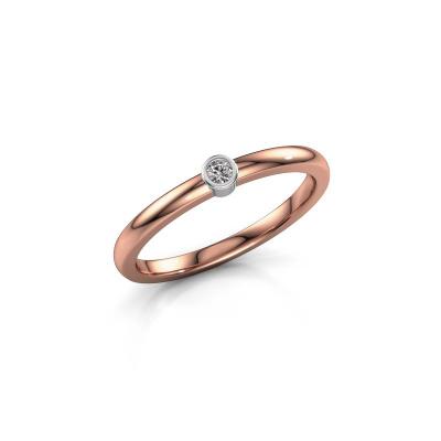 Ring Ise 1 585 rose gold diamond 0.03 crt