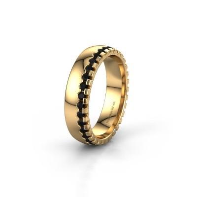 Wedding ring WH6122L25B 375 gold black diamond ±0.20x0.08 in