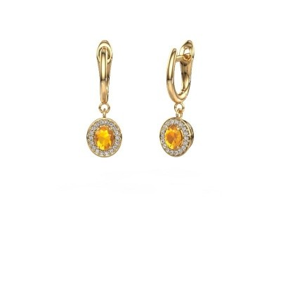 Picture of Drop earrings Nakita 750 gold citrin 5x4 mm