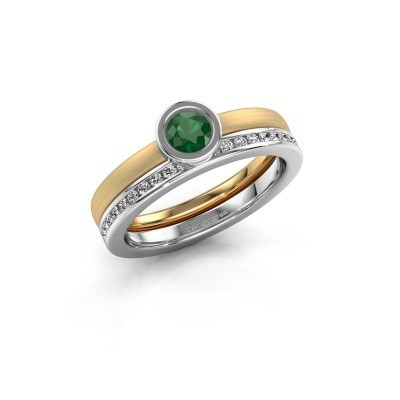 Ring Cara 585 gold emerald 4 mm