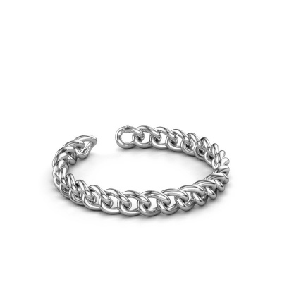 Cuban link armband ±9 mm 950 platina
