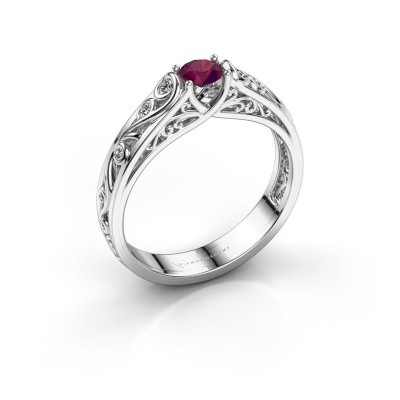Picture of Ring Quinty 925 silver rhodolite 4 mm