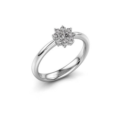 Picture of Engagement ring Camille 1 585 white gold lab-grown diamond 0.15 crt