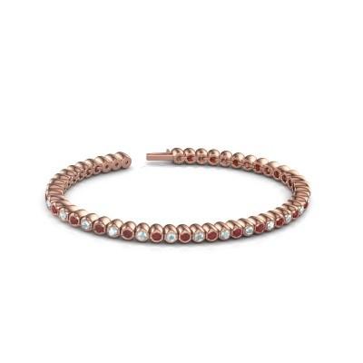 Foto van Tennisarmband Patrica 375 rosé goud robijn 2.4 mm