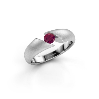 Picture of Engagement ring Hojalien 1 925 silver rhodolite 4 mm