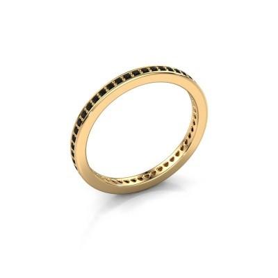 Aanschuifring Elvire 1 585 goud zwarte diamant 0.392 crt