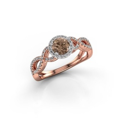 Engagement ring Dionne rnd 585 rose gold brown diamond 0.82 crt