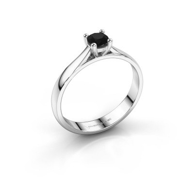 Foto van Verlovingsring Sam 585 witgoud zwarte diamant 0.36 crt