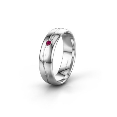Picture of Wedding ring WH0905L35X 925 silver rhodolite ±5x1.7 mm