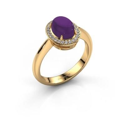 Ring Kristian 585 goud amethist 8x6 mm
