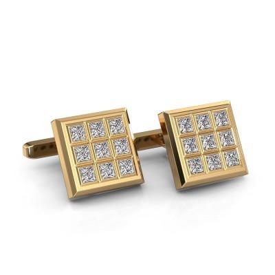 Foto van Manchetknopen Clen 375 goud diamant 3.06 crt