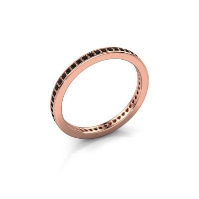 Aanschuifring Elvire 1 375 rosé goud zwarte diamant 0.392 crt