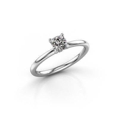 Picture of Engagement ring Crystal CUS 1 925 silver diamond 0.50 crt