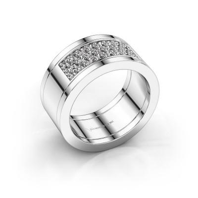 Foto van Ring Marita 6 925 zilver diamant 0.46 crt