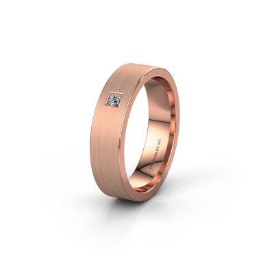 Trouwring WH0101L15BMSQ 375 rosé goud lab-grown diamant ±5x2 mm