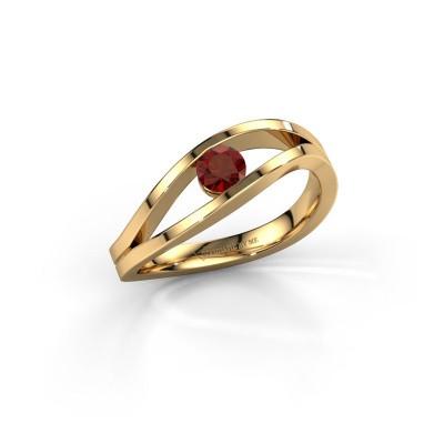 Foto van Ring Sigrid 1 585 goud granaat 4 mm