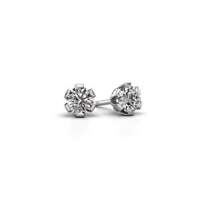 Foto van Oorstekers Julia 375 witgoud diamant 0.40 crt