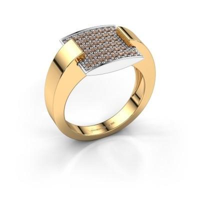 Ring Silke 585 goud bruine diamant 0.30 crt